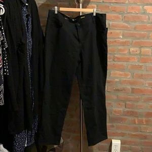 Macy's Straight leg black jeans 18w short